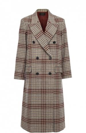 Удлиненное двубортное пальто с широкими лацканами Isabel Marant. Цвет: бежевый