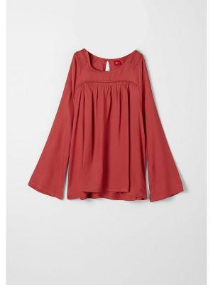 Блузка S.OLIVER. Цвет: малиновый