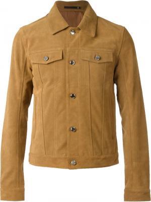 Куртка с накладными карманами Blk Dnm. Цвет: коричневый