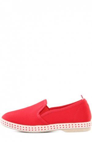 Эспадрильи Rivieras Leisure Shoes. Цвет: красный