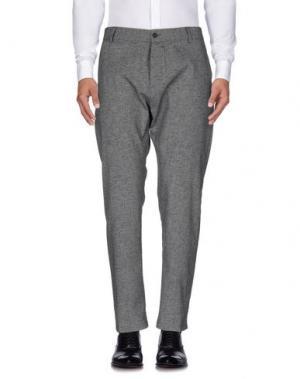 Повседневные брюки OFFICINA 36. Цвет: стальной серый