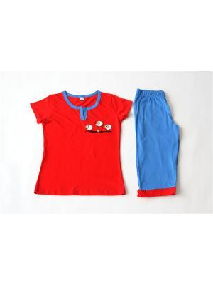 Пижама Proto. Цвет: красный, синий