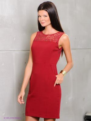 Платье Rene Derhy. Цвет: бордовый