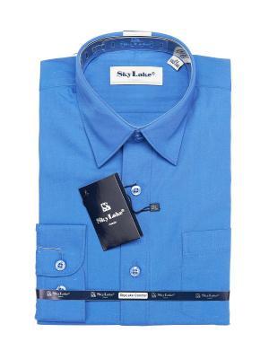 Рубашка Sky Lake. Цвет: синий, бежевый