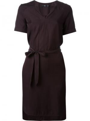 Платье с поясом Stills. Цвет: розовый и фиолетовый