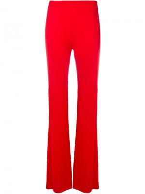 Расклешенные брюки с завышенной талией Emilio Pucci. Цвет: красный