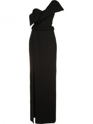 Платье Foldover Brandon Maxwell. Цвет: чёрный