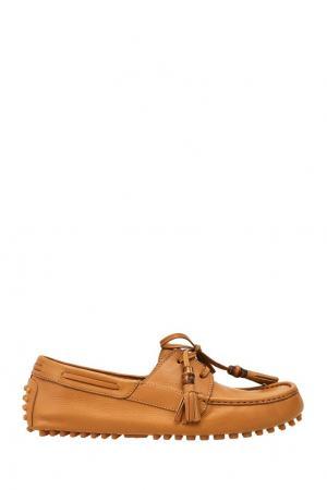 Кожаные лоферы песочного цвета Gucci. Цвет: бежевый