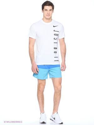 Шорты 5 DISTANCE SHORT (SP15) Nike. Цвет: синий, голубой