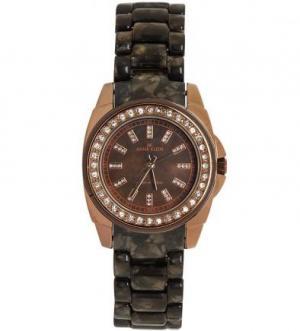 Часы с коричневым пластиковым ремешком Anne Klein
