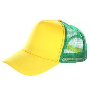 Бейсболка с сеткой  Combo Trucker Yellow/Green TrueSpin. Цвет: зеленый,желтый