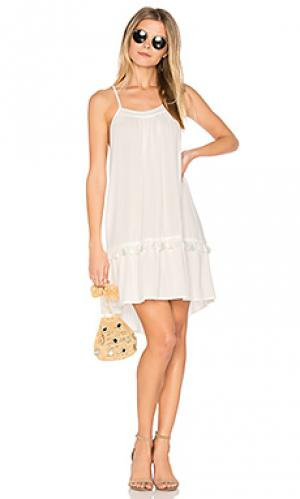 Мини платье caro Stillwater. Цвет: белый