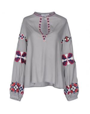 Блузка CHRISTOPHE SAUVAT. Цвет: серый