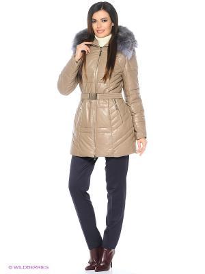 Кожаная куртка OSTRICH. Цвет: темно-бежевый