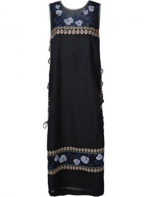 Embroidered tunic dress Suno. Цвет: чёрный