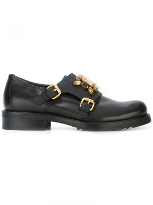 Декорированные туфли монки Loriblu. Цвет: чёрный