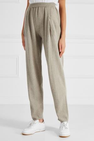 Кашемировые брюки с карманами Alena Akhmadullina. Цвет: серый