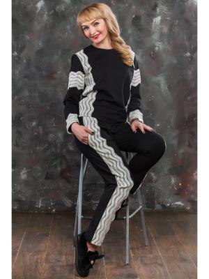 Спортивный костюм Кружевные связи MARRUSHKA. Цвет: черный, бежевый