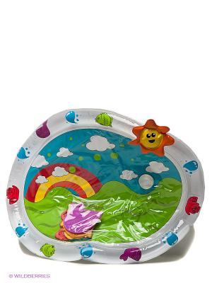 Игровой надувной коврик для ванной Bebelino. Цвет: голубой