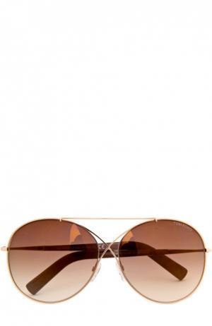 Солнцезащитные очки с футляром Tom Ford. Цвет: золотой
