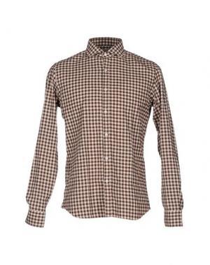 Pубашка ALESSANDRO GHERARDI. Цвет: темно-коричневый