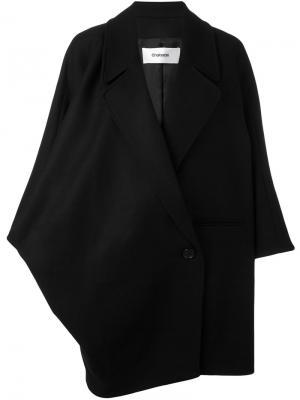 Объемное пальто Chalayan. Цвет: чёрный