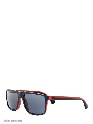 Очки солнцезащитные Emporio Armani. Цвет: красный, синий