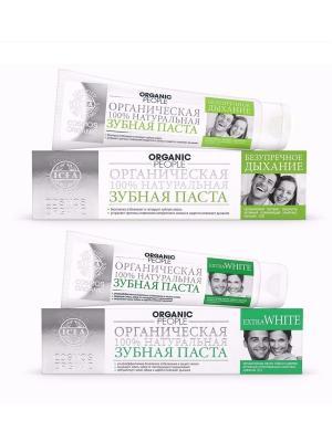 Зубная паста Extra White + Безупречное Дыхание ORGANIC PEOPLE. Цвет: белый