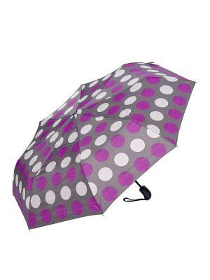 Зонт складной NUAGES. Цвет: серый