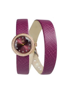 Часы ювелирные коллекция willQwill, Часовой завод Ника, QWILL. Цвет: бордовый