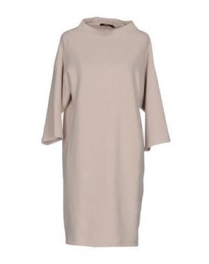 Короткое платье NATAN. Цвет: бежевый