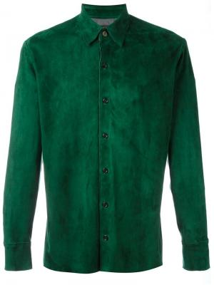 Классическая рубашка Stouls. Цвет: зелёный