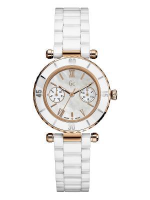 Часы GC. Цвет: белый, розовый, золотистый
