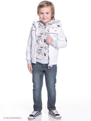Комплект одежды Батик. Цвет: белый, светло-серый