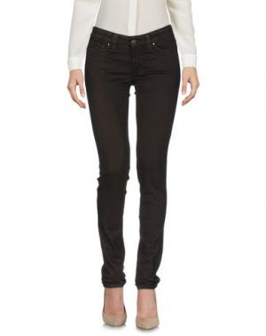 Повседневные брюки S.O.S by ORZA STUDIO. Цвет: темно-коричневый
