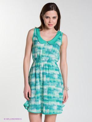 Платье CATHERINE'S. Цвет: зеленый, молочный