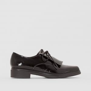 Ботинки-дерби с мексиканской планкой R essentiel. Цвет: черный