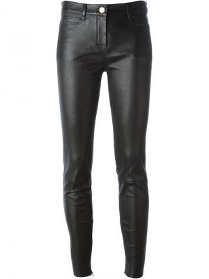 Облегающие брюки из кожи ягненка Jitrois. Цвет: чёрный
