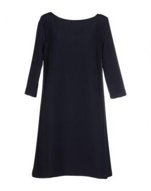 Короткое платье SIMONA MARTINI. Цвет: темно-синий