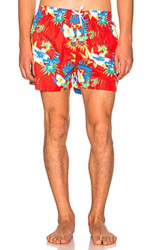 Компактные шорты frawl Ambsn. Цвет: красный