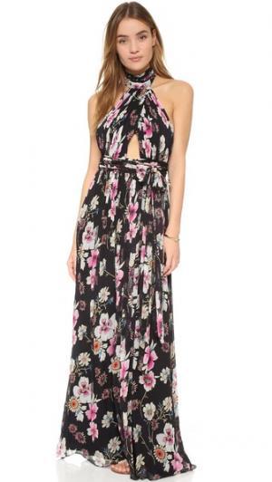 Вечернее платье с американской проймой и цветочным рисунком Jill Stuart. Цвет: ботанический сад