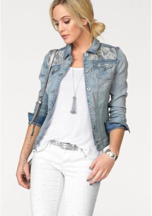 Джинсовая куртка MELROSE. Цвет: светло-синий