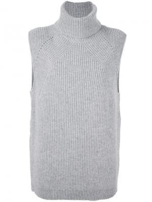 Джемпер без рукавов Thora Loma. Цвет: серый