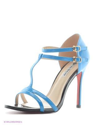 Босоножки женские LINO MORANO. Цвет: голубой