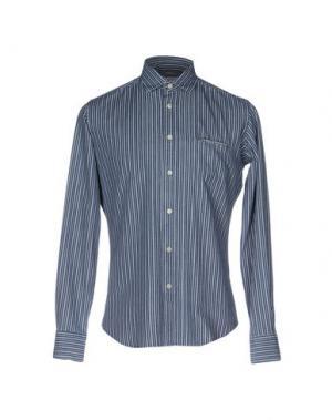 Джинсовая рубашка MOSCA. Цвет: синий