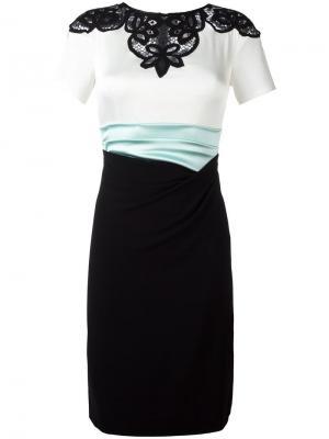 Платье Lomas Talbot Runhof. Цвет: чёрный