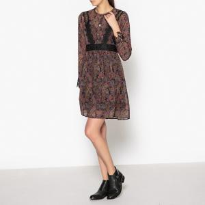 Платье короткое прямое с рисунком и длинными рукавами THE KOOPLES. Цвет: разноцветный