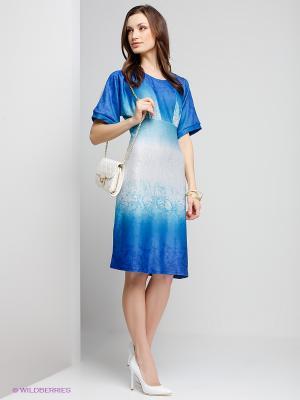 Платье Capriz. Цвет: бирюзовый, серый меланж, синий