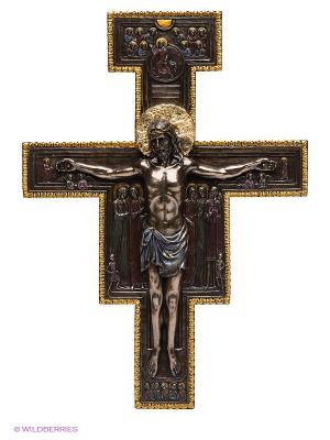 Фигура Крест Распятие Veronese. Цвет: бронзовый