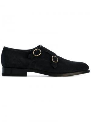 Туфли-монки Santoni. Цвет: синий